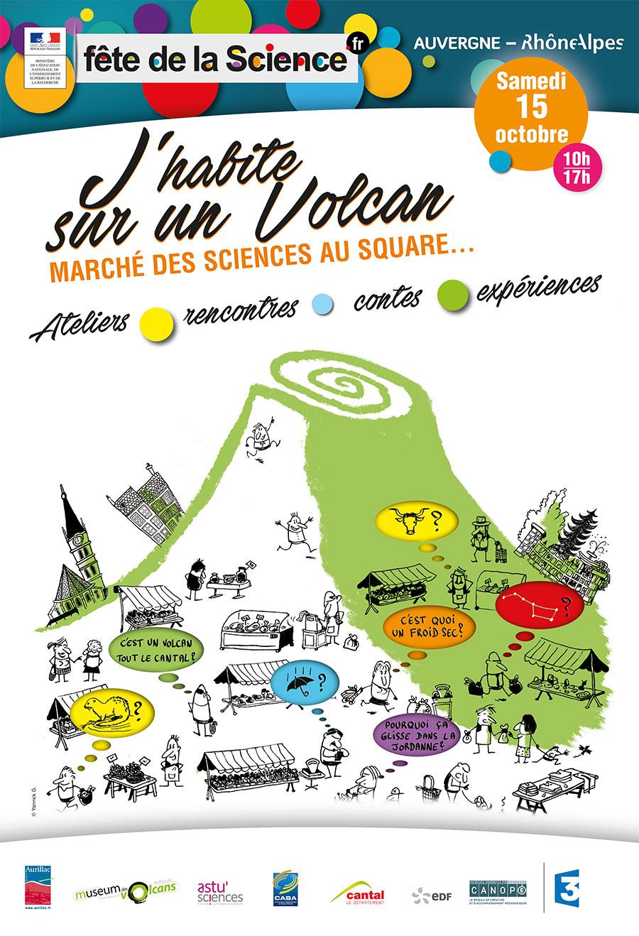 """Visuel affiche """"Fête de la Science"""""""