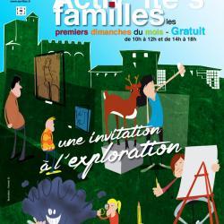 """Visuel affiche """"Activités familles - musées d'Aurillac"""""""