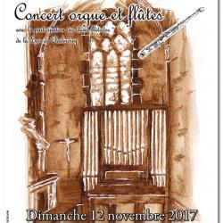 """Visuel affiche """"Concert orgue et flûtes"""""""