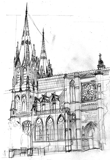 Cathedrale clerrmont sketch