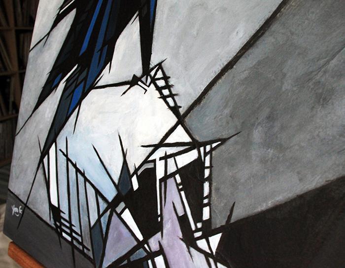 Corvus corax detail