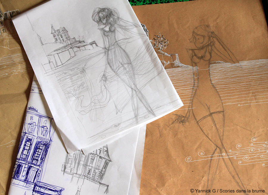 Dinard 1920 sketch