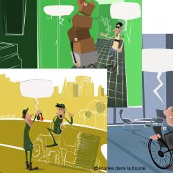 """12 visuels calendrier """"handicap et travail"""""""