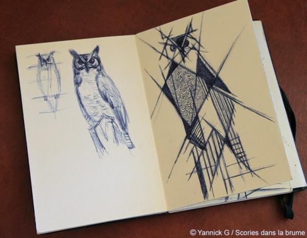 Hibou sketch