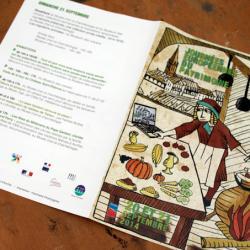 """Couverture, dépliant """"Journées européennes du patrimoine : gastronomie médiévale"""""""