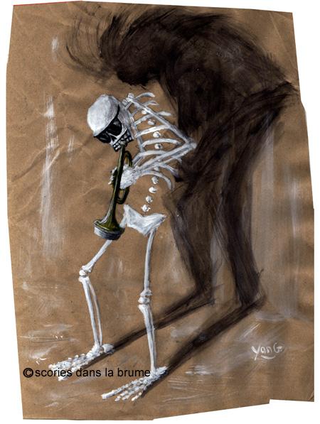 Miles davis skeleton 2