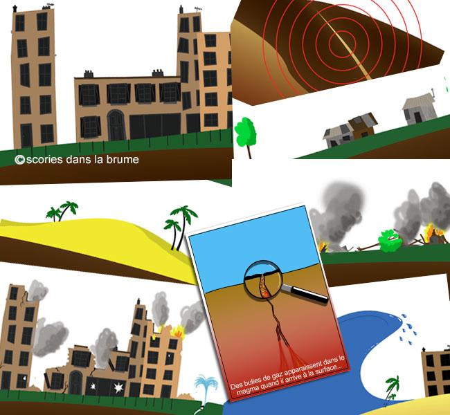 """Vignettes pédagogiques """"volcanisme et séismes"""""""