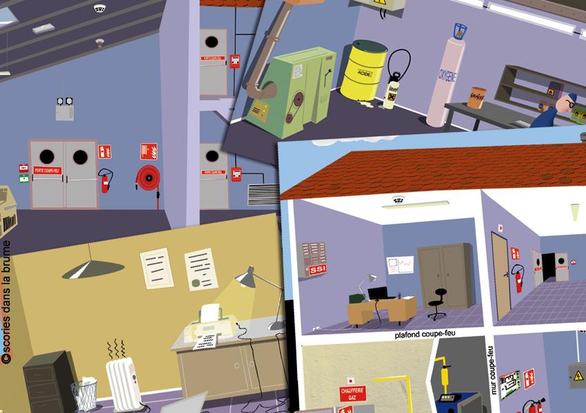 Présentation Formation sécurité incendie - décors et animations