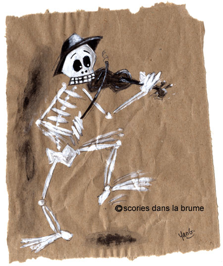 Skeleton violon
